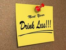El próximo año bebida de la resolución menos Foto de archivo libre de regalías