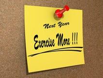 El próximo año ejercicio de la resolución más Foto de archivo libre de regalías
