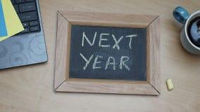 El próximo año en la oficina Foto de archivo libre de regalías