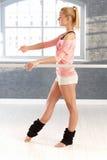 El practicar de la bailarina Foto de archivo