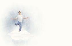 El practicar de la yoga Foto de archivo