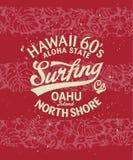 El practicar surf de Hawaii Imagen de archivo libre de regalías