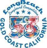 El practicar surf de Long Beach Fotos de archivo libres de regalías