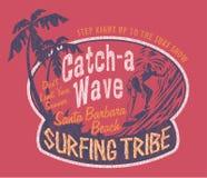 El practicar surf de Santa Barbara Imágenes de archivo libres de regalías