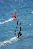 El practicar surf del viento Foto de archivo libre de regalías