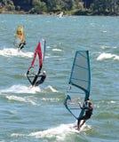 El practicar surf del viento Fotos de archivo libres de regalías