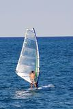 El practicar surf del viento Imágenes de archivo libres de regalías