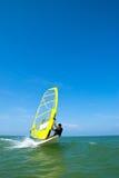 El practicar surf del viento Fotografía de archivo