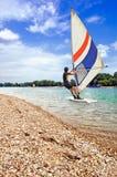 El practicar surf del viento Fotos de archivo