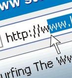 El practicar surf del Web Imágenes de archivo libres de regalías