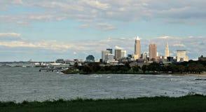 El practicar surf en Cleveland Foto de archivo libre de regalías