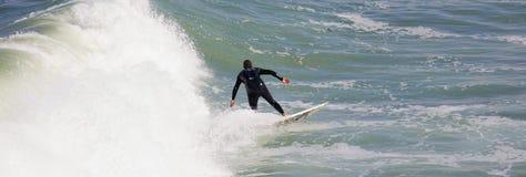 El practicar surf en la playa imperial California Fotos de archivo
