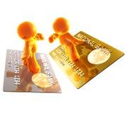 El practicar surf en un de la tarjeta de crédito Fotos de archivo libres de regalías