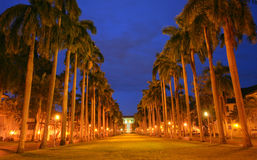 El Prado Avenue: monumental avenue Royalty Free Stock Images