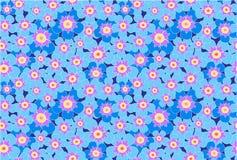 El prado azul florece el ejemplo inconsútil del modelo del vector Fotografía de archivo