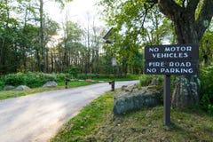 El prado grande encendido pasa por alto el parque nacional de Shenandoah de la impulsión, Virginia Imagen de archivo