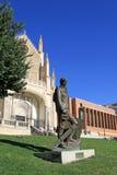 EL Prado - statua di para di pintor dell'ONU al museo di Prado in Madris, Spagna fotografie stock libere da diritti