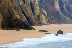 El Praia hace a Guincho Santa Cruz, Portugal Fotos de archivo