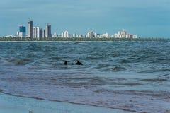 El Praia hace Paiva, Pernambuco - el Brasil Fotos de archivo