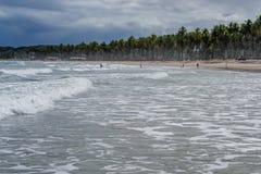 El Praia hace Paiva, Pernambuco - el Brasil Foto de archivo libre de regalías