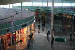 EL Prat Airside do T1 Barcelona Fotos de Stock Royalty Free