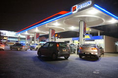 El precio de la gasolina sube fotos de archivo libres de regalías