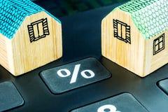 El precio de las propiedades inmobiliarias todavía está cambiando Imagen de archivo libre de regalías