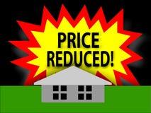 El precio redujo en hogar Fotografía de archivo libre de regalías