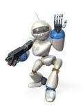 El preguntar por un robot Fotografía de archivo