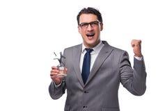El premio de la estrella de la tenencia del hombre de negocios en concepto del negocio fotos de archivo
