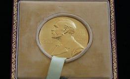 El Premio Nobel de George Emil Palade - donado en la ROM de Bucarest imagen de archivo