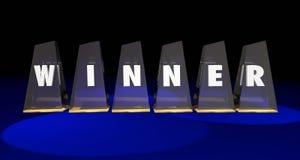 El premio superior del ganador concede palabra de las letras Fotografía de archivo