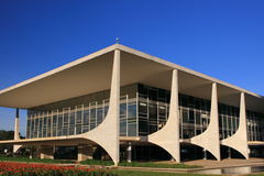 El presidente brasileño futurista Building Imagen de archivo