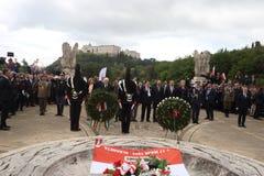 El presidente de la rep?blica italiana Sergio Mattarella y el presidente de la Rep?blica de Polonia fotografía de archivo libre de regalías
