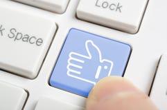 El presionar como llave del símbolo Foto de archivo libre de regalías