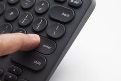 El presionar del finger incorpora llave imagenes de archivo