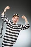 El preso divertido en concepto de la prisión fotografía de archivo libre de regalías
