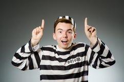 El preso divertido en concepto de la prisión fotos de archivo libres de regalías