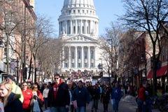 El presupuesto de Wisconsin protesta II Imagen de archivo libre de regalías