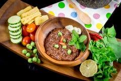El prik del nam de la cocina o la goma tailandés del chile se mezcla foto de archivo