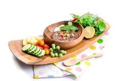 El prik del nam de la cocina o la goma tailandés del chile se mezcla imagenes de archivo