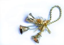 El primer aisló tres campanas de Año Nuevo de la Navidad imagen de archivo