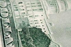 El primer americano del billete de dólar del revés cincuenta fotografía de archivo