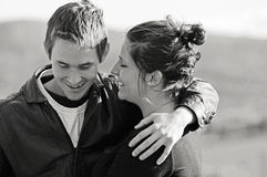 El primer amor dulce, reunión del alma se acopla imagen de archivo