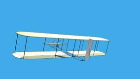 El primer avión stock de ilustración
