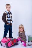 El primer día escolar imagen de archivo libre de regalías