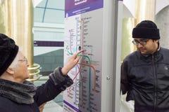 El primer d?a de la estaci?n de metro Mezhdunarodnaya imágenes de archivo libres de regalías