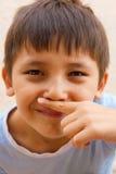 El primer de la cara del muchacho Fotografía de archivo