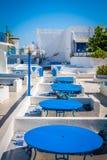 El primer del restaurante tunecino Sidi Bou Said - ciudad en septentrional Imagen de archivo