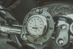 El primer detalla la moto del velocímetro Imagen de archivo libre de regalías